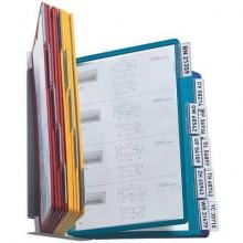 Leggio da parete DURABLE VARIO® WALL 20 pannelli A4 acciaio/polipropilene colori assortiti - 551200
