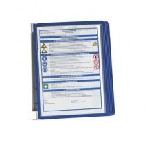 Leggio da parete DURABLE VARIO® WALL 5 pannelli A4 metallo/polipropilene blu 555107