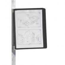 Leggio da parete DURABLE VARIO® MAGNET WALL 5 pannelli A4 nero - 591401