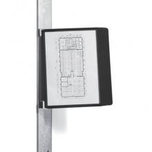 Leggio da parete DURABLE VARIO® MAGNET WALL 10 pannelli A4 nero - 591801