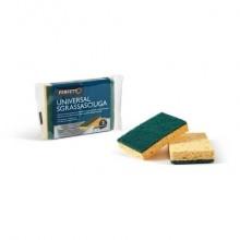 Spugnette Sgrassasciuga Perfetto giallo/ verde Conf. 2 pezzi - 0246A