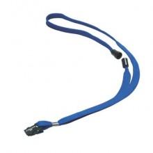 Accessori per portanomi e portabadge DURABLE cordoncini tessuto blu 10mm x 44cm  conf. 10 - 811907