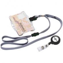 Accessori per portanomi e portabadge DURABLE cordoncini tessuto grigio 10mm x 44cm  conf. 10 - 811910