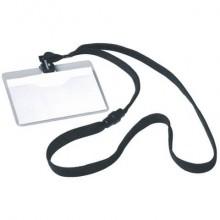 Portanomi DURABLE tasca aperta con cordoncino trasparente/nero 60x90mm conf. 10 - 813901