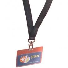 Portanomi DURABLE tasca chiusa con cordoncino trasparente/nero inserto 60x90mm  conf. 5 - 860001