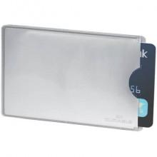 Tasca porta carte di credito DURABLE RFID SECURE argento metallizzato 54x86mm conf. 10 - 890023