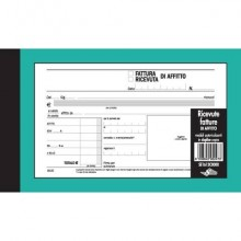 Ricevute - Fatture di affitto Semper blocco di 50/50 copie autoricalcanti 10x16,8 cm - SE1612C0000