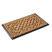 Zerbino Il Tappetino per esterni 45x75 cm. disegni assortiti, filato cocco / fondo gomma nera - 0634