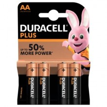 Batterie alcaline Duracell Plus Power Stilo 1500 mAh AA conf. da 4 - DU0100