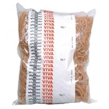 Elastici VIVA in busta in gomma marrone 100 mm conf.1000 gr - EN100B