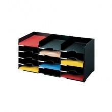 Schedario portacorrispondenza Paperflow componibile  a 15 cassetti nero K421301