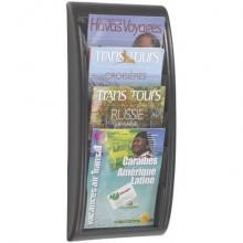 Espositore da muro Paperflow Quick Fit A4 componibile 4 tasche alluminio K540615