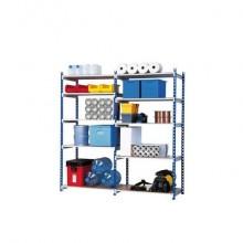 Scaffalatura metallica Paperflow Rang'Eco ad incastro 5 ripiani modulo aggiunta blu - K607131