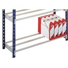 Staffe aggiuntive Paperflow per scaffalatura 1,25 m x 70 cm grigio K607172