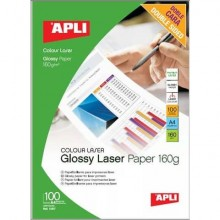 Carta fotografica laser Decadry A4 alta qualità - finitura lucida - fronte/retro 160 gr. bianco Conf. 100 fogli - T900009
