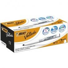 Marcatori per lavagne bianche BIC Velleda 1741 punta conica 4,5 mm nero 9581711 (Conf.12)