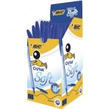 Penna a sfera BIC Cristal Soft M 1,2 mm blu 951434 (Conf.50)
