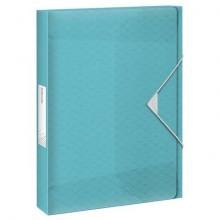Cartella portaprogetti Esselte Maxi Colour'Ice polipropilene goffrato blu A4 dorso 40mm - 626264