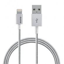 Cavo intrecciato da USB a Lightning da 1 m Leitz grigio metallizzato 63450084