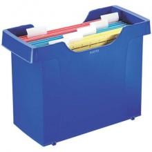 Portacartelle sospese Leitz Mini File Plus in polistirolo A4 blu 19930335