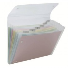 Archiviatore a soffietto Rexel Ice 6 tasche A4 trasparente 2102033