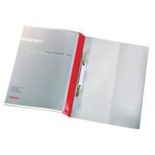 Cartelline ad aghi con clip Esselte Quotation File 23,8x31 cm pvc semirigido rosso  conf. da 25 - 28359