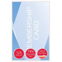 Pouches per plastificatrici GBC 2x125 µm finitura lucida formato carta di credito 7,5x10,5 cm Conf. 100 pezzi 3740303