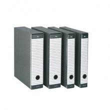 Registratore con custodia Esselte G15 Delsoline protocollo 29,5x35 cm - dorso 8 grigio - 390715060
