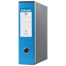 Registratori con custodia Esselte G53 EUROFILE commerciale D8 cartone rivestito in PP blu vivida - 390753910