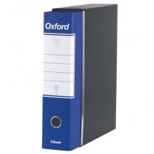 Registratore con custodia Esselte G83 Oxford commerciale 29,5x32 cm - dorso 8 cm blu - 390783050 (Conf.6)