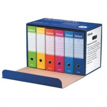 Registratori con custodia Esselte Oxford Box G85 protocollo 54,5x36,5 cm - dorso 8 cm assortiti  conf. da 6 - 390785110