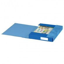 Cartelle a 3 lembi Esselte S60 ESSENTIALS E6 blu 25x32 cm dorso 4 cm 6 cartelle - 391960050