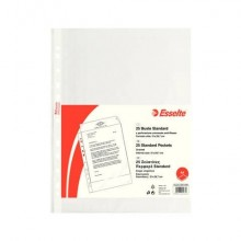 Buste a perforazione universale goffrate Esselte STANDARD PP antiriflesso trasparente A4  conf.25 - 392513300