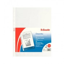 Buste a perforazione universale goffrate Esselte OFFICE PP antiriflesso 22x30 cm conf.25 - 392597100