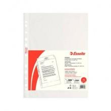 Buste a perforazione universale goffrate Esselte ESSENTIALS PP antiriflesso trasparente A4  conf.100 - 392713000