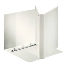 Raccoglitore personalizzabile Esselte Display Maxi 4 anelli tondi 26x32 cm bianco dorso 3,9 cm bianco - 394752000