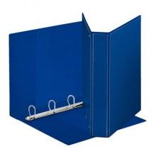 Raccoglitore personalizzabile Esselte Display a 4 anelli a D 40mm PP eco-comp. blu formato Maxi - 394753500