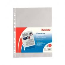 Buste a perforazione universale goffrate Esselte DELUXE 22x30 cm trasparente antiriflesso  conf.50 - 395097600