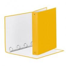Raccoglitore Esselte MEETING a 4 anelli tondi 30mm cartone rivestito in PP giallo 22x30cm dorso 4cm - 395792100