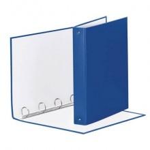 Raccoglitore Esselte MEETING a 4 anelli tondi 30mm cartone rivestito in PP blu 22x30cm dorso 4cm - 395792500