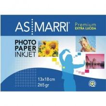 """Carta fotografica AS/Marri """"Premium"""" per stampanti inkjet finitura lucida A5 265 g/m² Conf. 20 pezzi - 9175"""