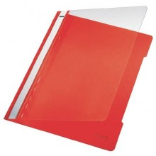 Cartellina ad aghi con clip Leitz in PVC A4 rosso 41910025 (Conf.5)