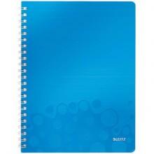 Blocco a quadretti 80 fogli Leitz WOW in PPL A4 blu metallizzato 46380036