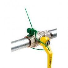 Sigilli di sicurezza Stripe Lock WeSeal lunghezza 300 mm bianco conf. da 100 sigilli - SIG-004/N