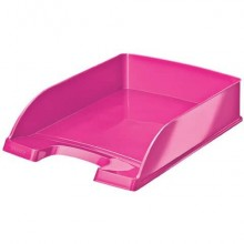 Vaschetta portacorrispondenza Leitz WOW in polistirolo A4 rosa metallizzato 52263023 (Conf.5)
