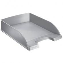 Vaschetta portacorrispondenza Leitz PLUS STANDARD in polistirolo A4 grigio metallizzato - 52270084 (Conf.5)