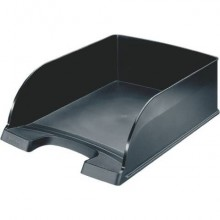 Vaschetta portacorrispondenza impilabile Leitz PLUS JUMBO in polistirolo A4 nero 52330095 (Conf.4)