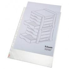Buste a perforazione universale Esselte DELUXE goffrate antiriflesso trasparente 30x42 cm conf. 50 pezzi - 55231