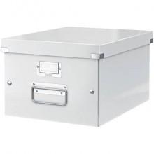 """Scatola per archiviazione universale """"M"""" Leitz CLICK & STORE A4 bianco metallizzato - 60440001"""