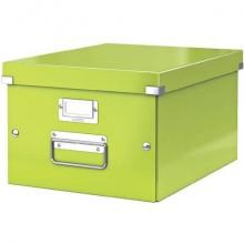 """Scatola per archiviazione universale """"M"""" Leitz CLICK & STORE A4 verde metallizzato - 60440064"""